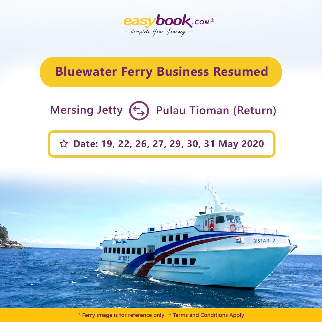 Blue water ferry are really excited to resume their