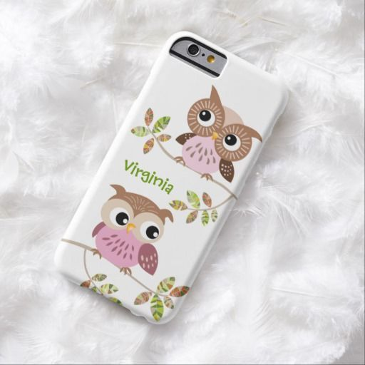 Awesome iPhone 6 Case! 2 Cute Owls on Colorful Branches iPhone 6 case. It's a completely customizable gift for you or your friends.