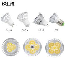 Us 1 48 Dimmable Led Spotlight Gu10 3w 4w 5w 85 265v Lampada Led Lamp E27 220v 110v Gu5 3 Spot Candle Luz Led Bulbs Mr16 Dc 12v Lighting Aliexpress