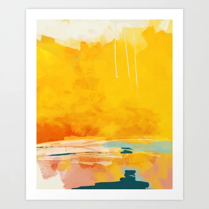 Buy Sunny Landscape Art Print By Lalunetricotee Worldwide Shipping Available At Society6 Com Just One Of Millions Of High Qu Art Prints Art Framed Art Prints