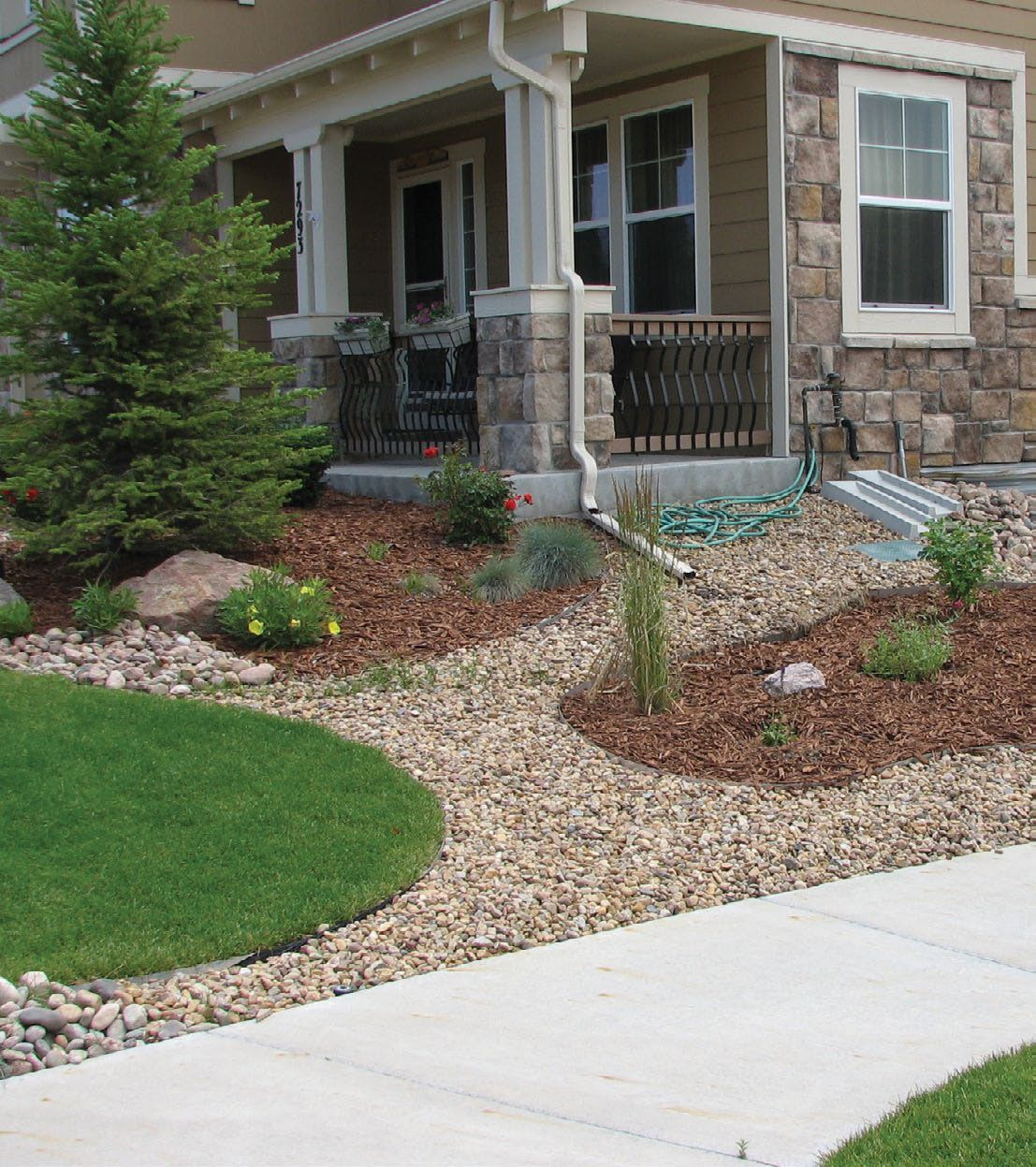 Xeriscaping Front Yards in Colorado | Xeriscape to save ... on Xeriscape Backyard Designs  id=54476