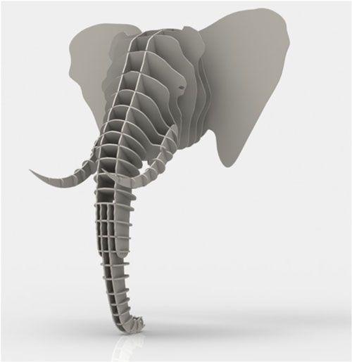 On Sale Now! Faux Elephant Head A makeMZFC Original 3D Puzzle ...