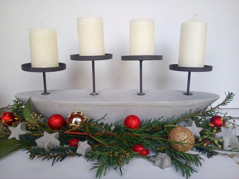 Beton Weihnachtsdeko.Deko Objekte Adventskranz Beton Weihnachtsdeko Beton Beton Ein