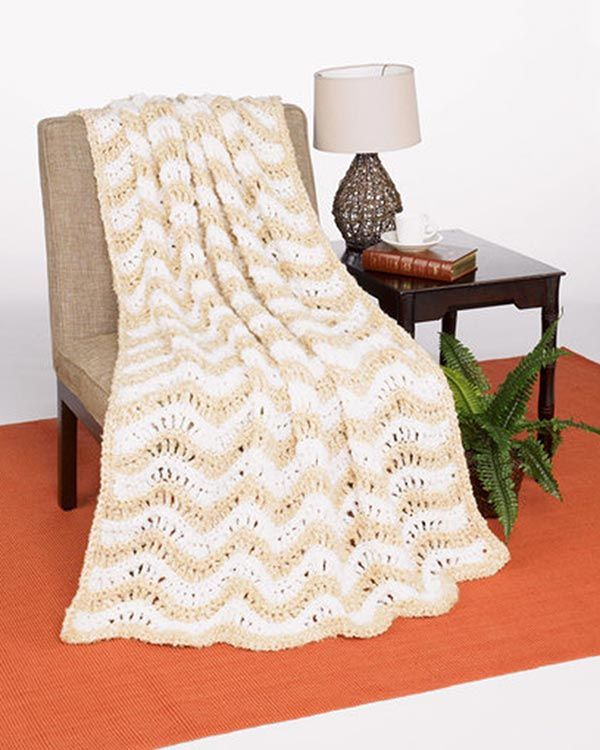 Best Free Crochet » Free Crochet Crested Wave Afghan Pattern from ...