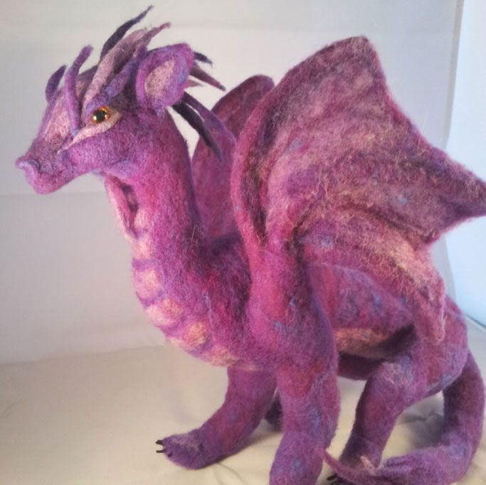 Needle Felted Dragon – a Gift of Love and Protection #feltdragon