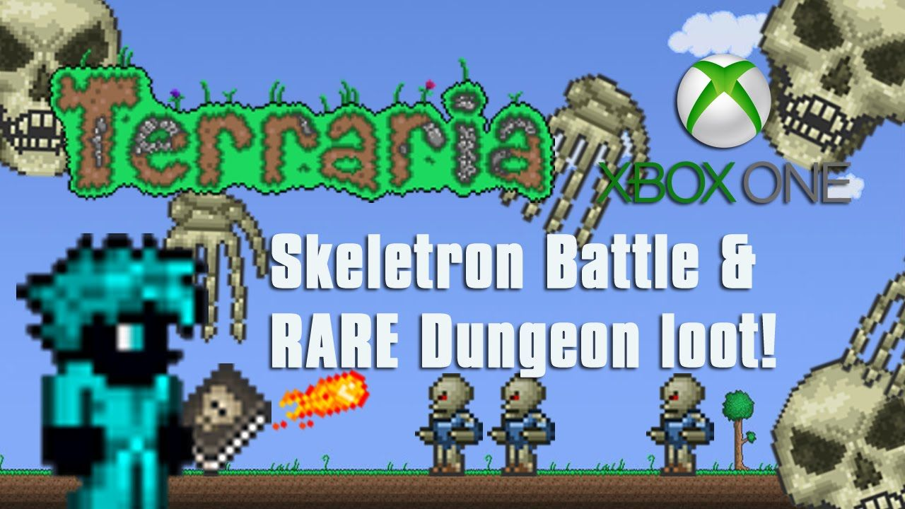 Terraria Xbox One Skeletron Battle Epic Dungeon Loot 9