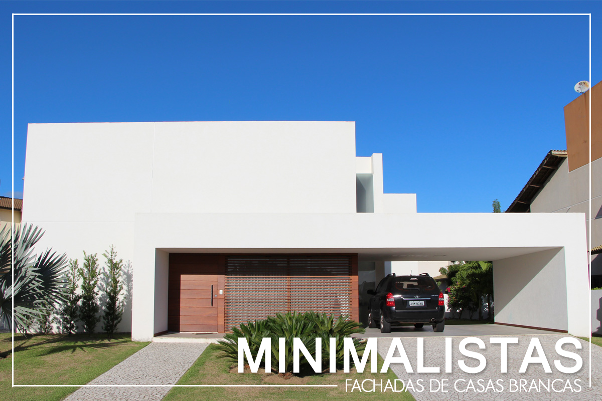 Casa fachada branca minimalista moderna decor salteado 18 for Proyectos casas minimalistas