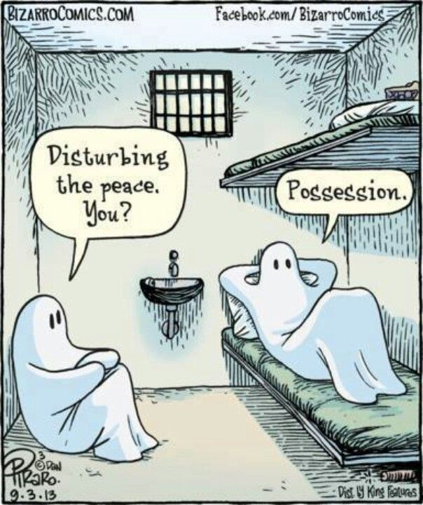 Halloween. Prison. Joke. Ghost