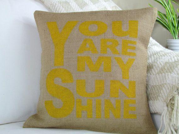 You Are My Sunshine Pillow Nursery Decorative Throw