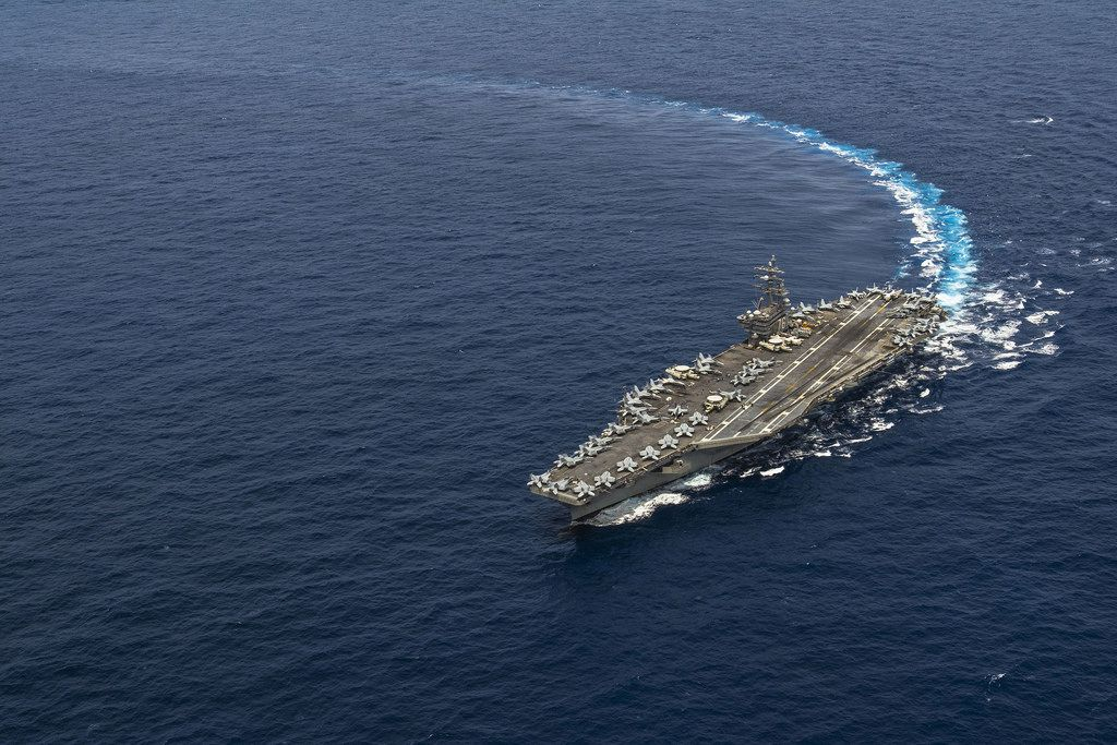 USS Ronald Reagan transits the Pacific Ocean. | by Official U.S. Navy Imagery