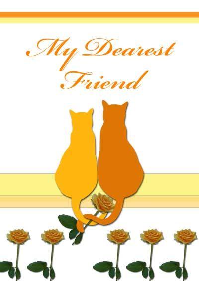 image regarding Free Printable Friendship Cards named Printable Friendship Playing cards -