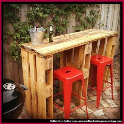 Dollar Store Crafter: Turn Pallets Into A Backyard Bar