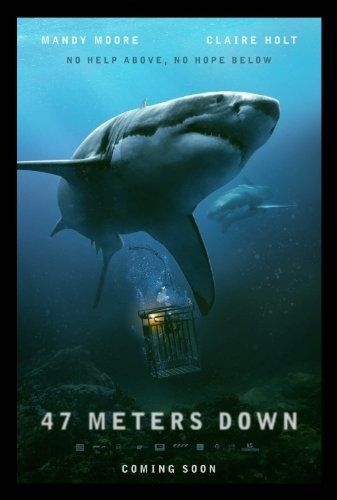 47 Meters Down Streaming : meters, streaming, Meters, (2017), Streaming, Movies,, Movies, Online,, Poster