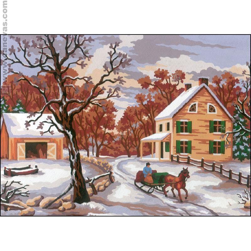Hiver - La Maison du Canevas et de la Broderie  Winter scenes