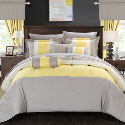 Chic Home Mackenzie 20 Piece King Comforter Set Color Yellow