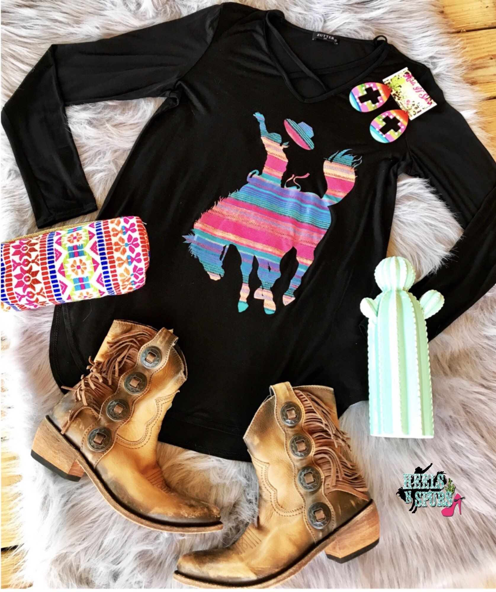 The serape bronc tee clothes country girls and western wear