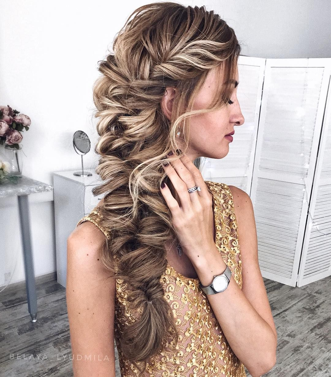 47 Braided Hairstyle Inspiration Braids Hairstyles Braided Ponytails Textured Braids Hairstyle Hair Bra Long Hair Styles Womens Hairstyles Hair Styles