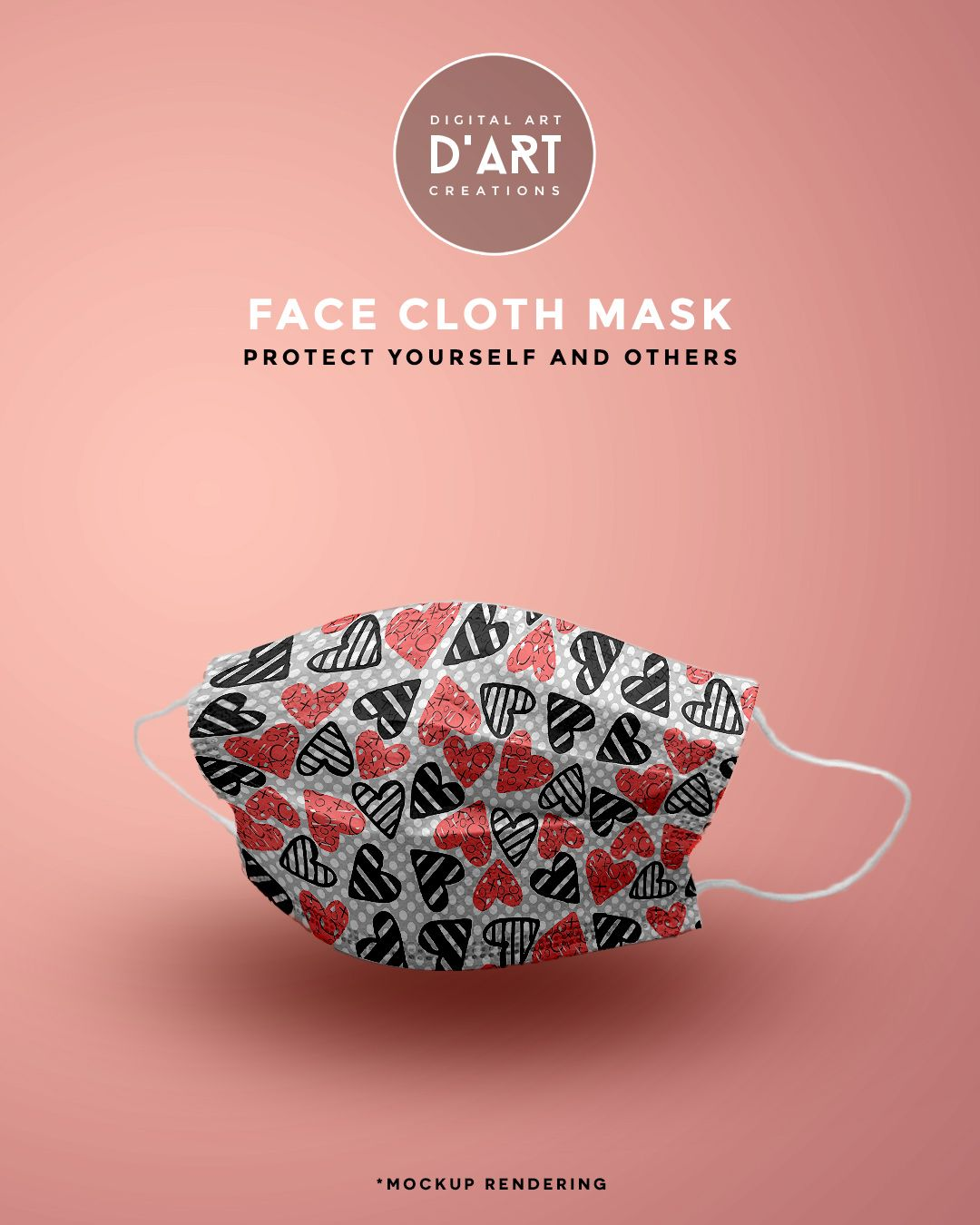 Cute and lovable seamless hearts pattern. Wear a mask, protect yourself and others... #clothfacemask #facemask #mask #clothfacecover #facecover #wearamask #protectyourself #stayathome #staysafe #hearts #love #whimsical #handdrawn #cute #heartspattern #lovable #zazzle #zazzler #zazzleshop #digitalartcreations