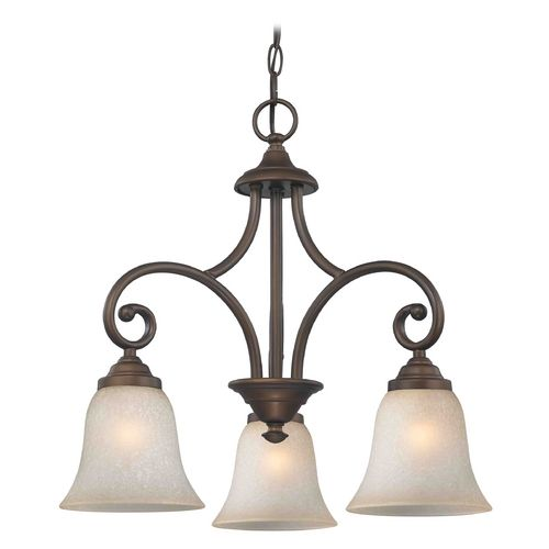 Mini chandelier with brown glass in bronze finish mini chandelier design classics lighting mini chandelier with brown glass in neuvelle bronze finish 716 220 aloadofball Image collections