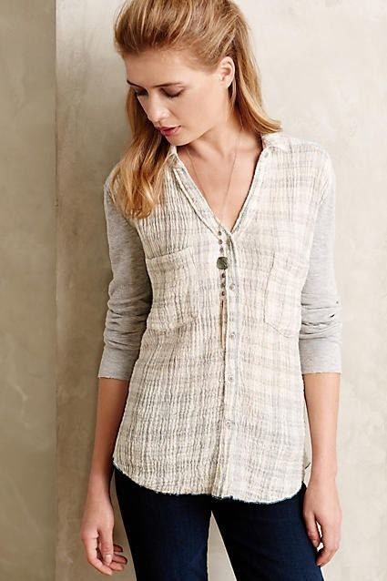 Anthropologie Holding Horses Forsby Plaid Buttondown Top Shirt Blouse Sz M $78 | eBay
