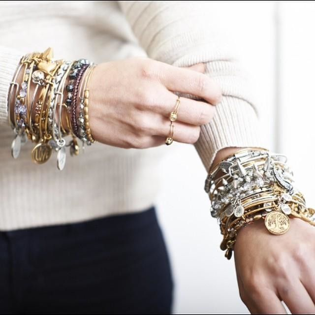 Obsessed with these stackable bangles from @alexandani they are gorg #alexandani #style