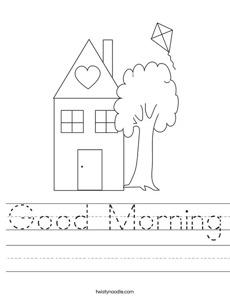 Good Morning Worksheet Twisty Noodle New Home Cards Holiday Lettering Kids Prints