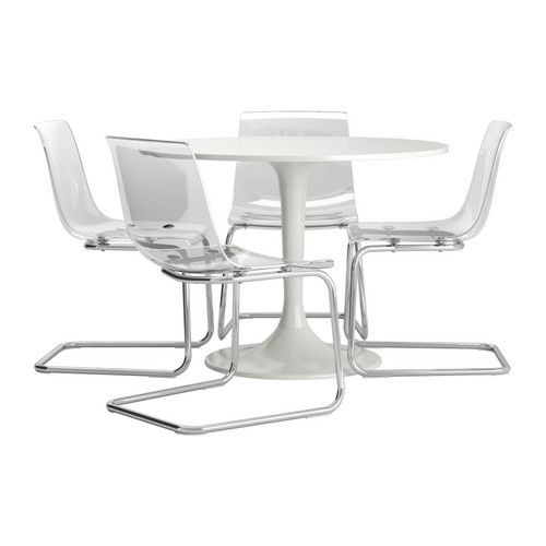 DOCKSTA TOBIAS Table And 4 Chairs White Clear