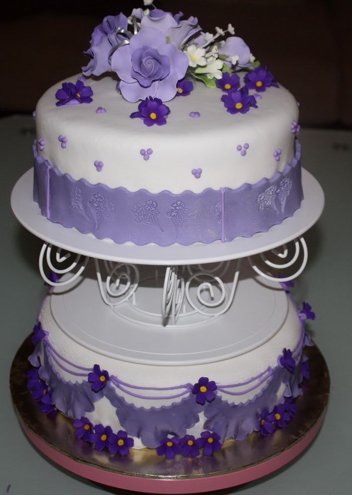 Best 2 Tier Wedding Cakes Purple Wedding Cakes Designs Idea