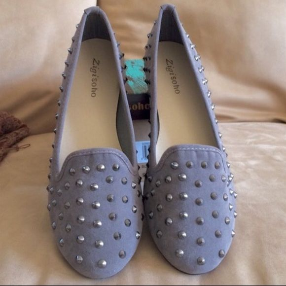 81479a5ff527 Super cute grey studded flats. These shoes look great with  jeans.TRADESPAYPALPRICE IS FIRM Zigi Soho Shoes Flats   Loafers