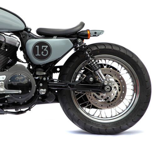 2 5 Lucky Number 13 Vintage Cafe Racer Motorcycle Decal Sticker Choose Color Motorcycle Tank Cafe Racer Classic Harley Davidson