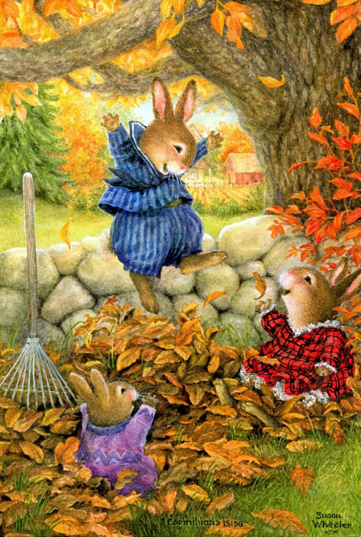 Осень открытки детские