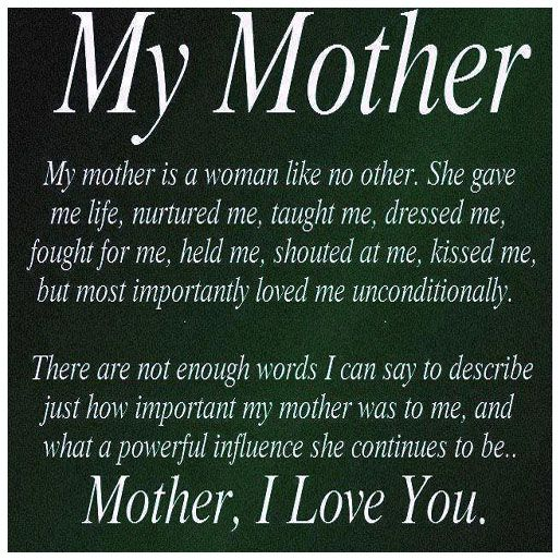I Miss You So Much Momma I Think Of You Everyday Thanks For Being