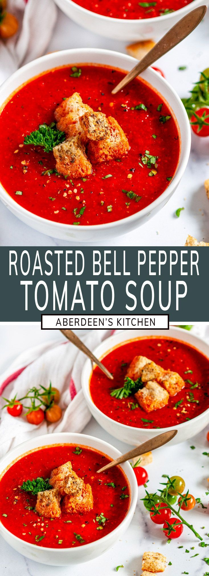 Roasted Bell Pepper Tomato Soup Aberdeen S Kitchen Recipe In 2020 Stuffed Peppers Healthy Soup Recipes Stuffed Bell Peppers