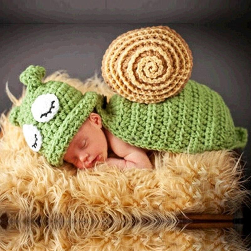 Hand-woven Solid Color Baby Crochet Knitted Photo Photography Prop Infant Hat