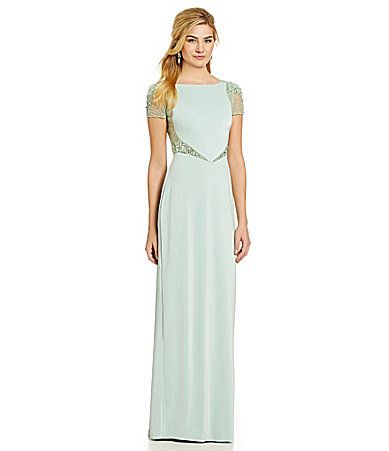 Mignon Beaded Illusion Cutout Gown #Dillards | Prom Queen ...