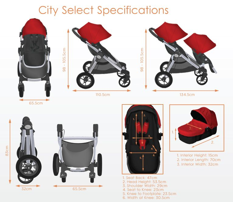 The Baby Jogger City Select Specifications Baby Jogger City Select Baby Strollers Baby Jogger