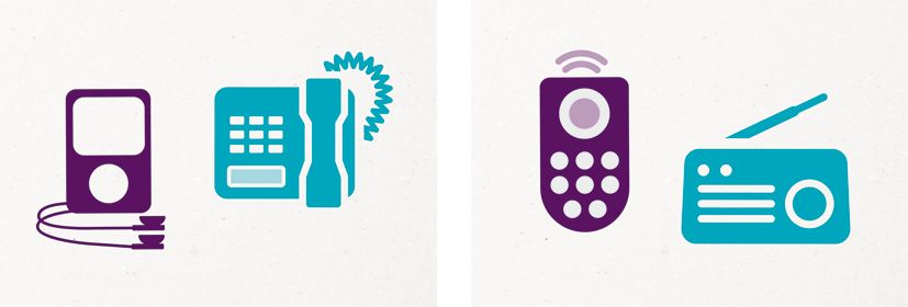 The chosen concept uses icons representing all the different technological area the client works with. They are arranged to form the outline of each geographical area they work in. A simple and effective solution that underlines both the diversity and the reach of Ofcom.