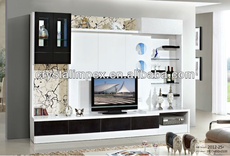 Lcd tv wall unit designs led tv stand furniture wall for Lcd unit design for living room