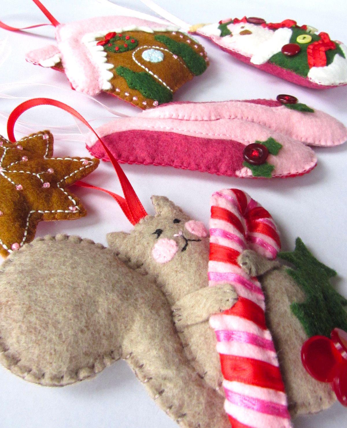 Felt Gingerbread House Ornament Felt crafts christmas