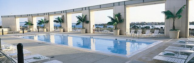 Iconic Pool - Adults Only (21+) at Manchester Grand Hyatt overlooking San Diego Bay.