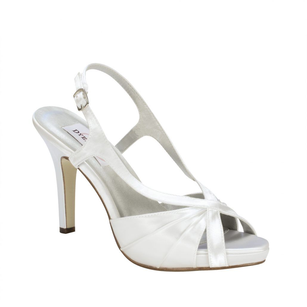 Dyeables Aliyah White Satin 3 3 4 Heel Dyeable Shoe Store Dyeable Shoes Dyeable Wedding Shoes Bridal Shoes