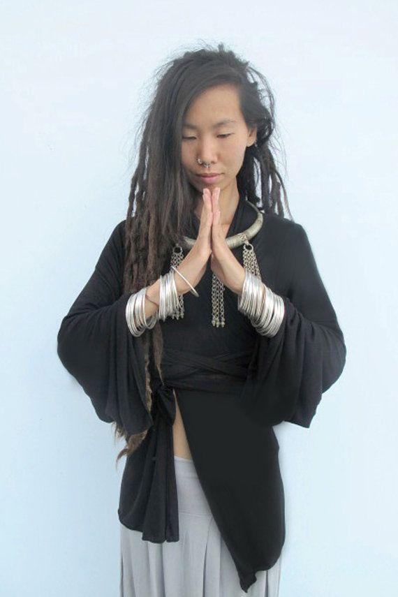8dab33b1d0b Boho Kimono, Black Kimono Cardigan, Japanese Kimono, Woman's Kimono ...