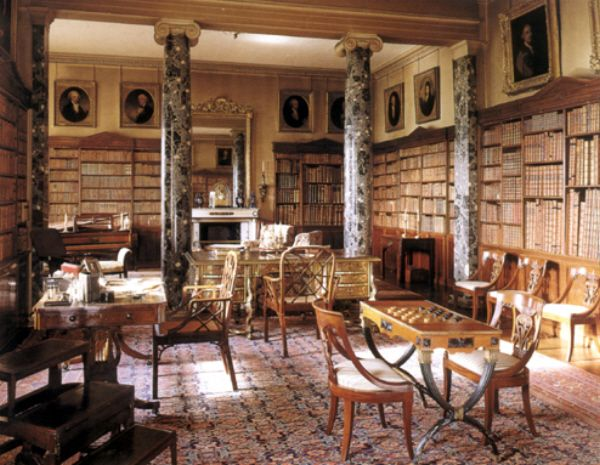 Saltram House Library Used As Norland Parks In Sense And