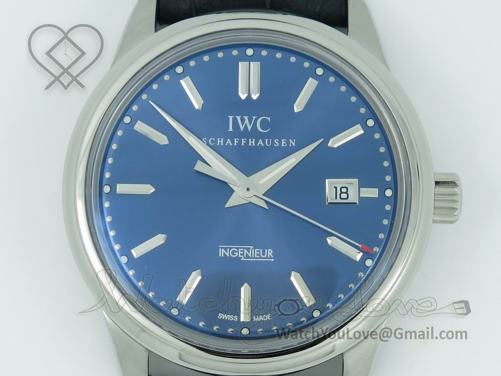 Blue explosive dial with superlumed markers and hands