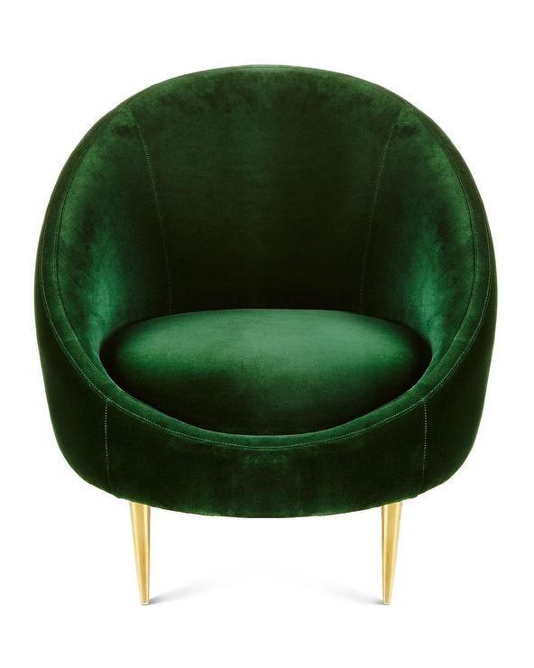 Lovely Emerald Velvet Chair. Feeling The Vintage Vibes