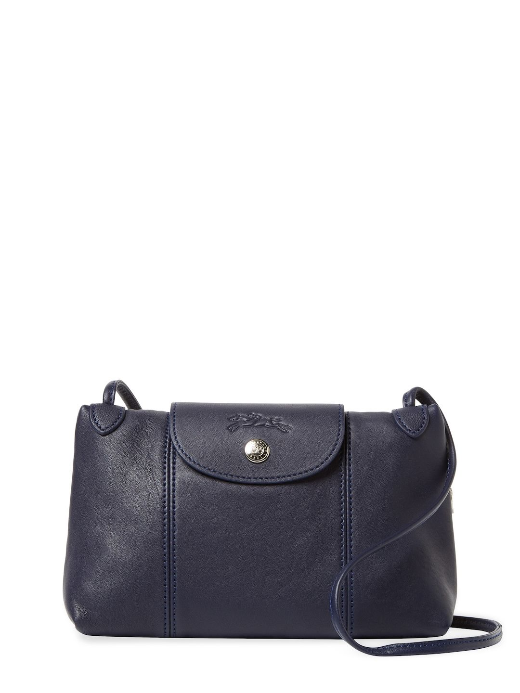 LONGCHAMP LE PLIAGE CUIR SMALL LEATHER CROSSBODY. #longchamp #bags  #shoulder bags #