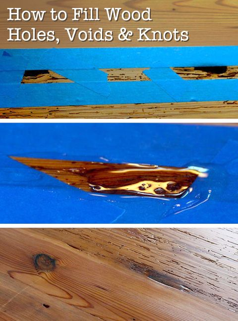 How to fill voids and knot holes in wood woodworking for Wood floor hole filler