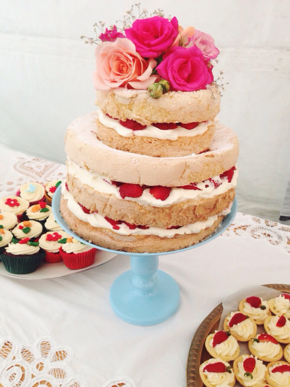 Naked Cake - A Beautifully Decorated Rustic Cake with