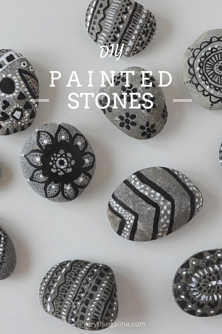 steine bemalen einfach diy idee pinterest steine bemalen steine und einfach. Black Bedroom Furniture Sets. Home Design Ideas