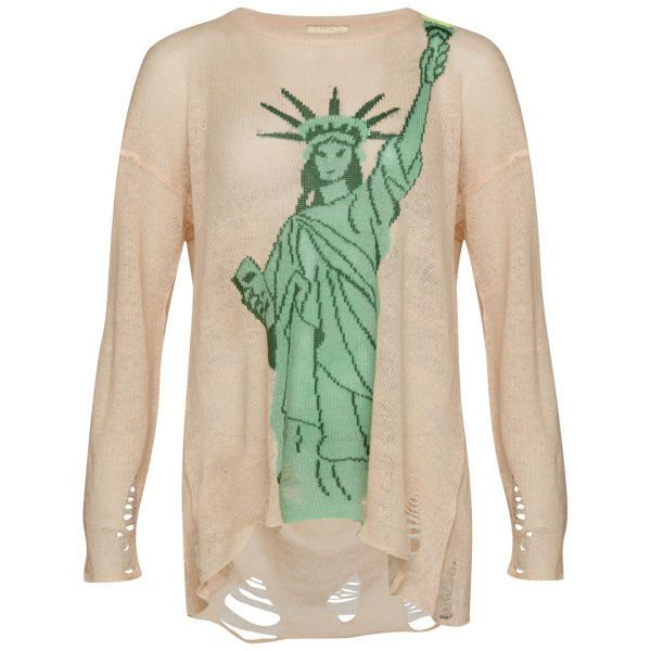 Wildfox Women's Statue of Liberty Lennon Sweater - Baby (€105) found on Polyvore